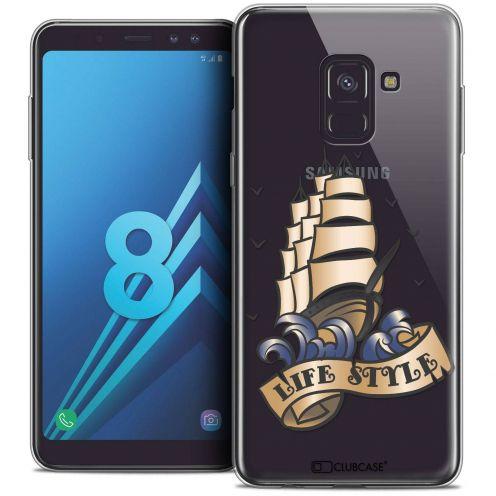 "Coque Crystal Gel Samsung Galaxy A8 (2018) A530 (5.6"") Extra Fine Tatoo Lover - Life Style"