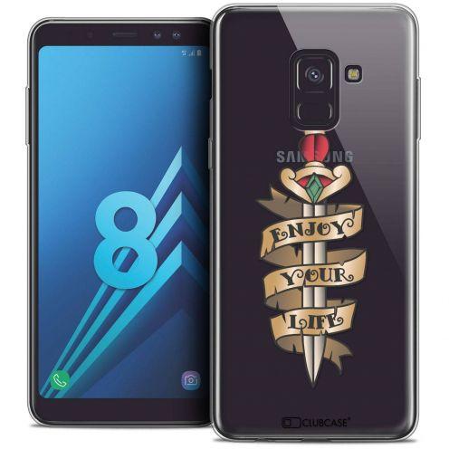 """Coque Crystal Gel Samsung Galaxy A8 (2018) A530 (5.6"""") Extra Fine Tatoo Lover - Enjoy Life"""