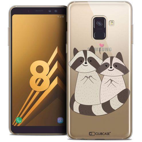 "Coque Crystal Gel Samsung Galaxy A8 (2018) A530 (5.6"") Extra Fine Sweetie - Racoon Love"
