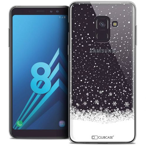 "Coque Crystal Gel Samsung Galaxy A8 (2018) A530 (5.6"") Extra Fine Noël 2017 - Flocons de Neige"