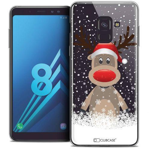 """Coque Crystal Gel Samsung Galaxy A8 (2018) A530 (5.6"""") Extra Fine Noël 2017 - Cerf au Bonnet"""