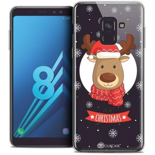 """Coque Crystal Gel Samsung Galaxy A8 (2018) A530 (5.6"""") Extra Fine Noël 2017 - Cerf à Echarpe"""