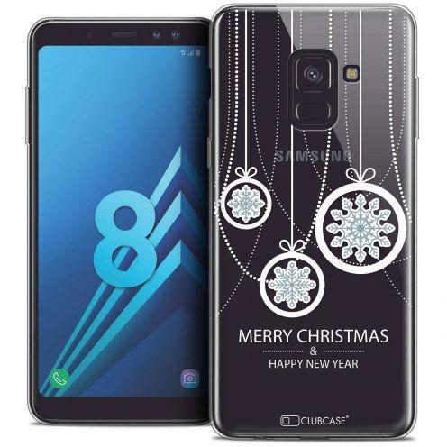 """Coque Crystal Gel Samsung Galaxy A8 (2018) A530 (5.6"""") Extra Fine Noël 2017 - Christmas Balls"""