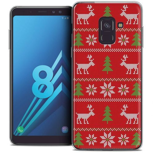 "Coque Crystal Gel Samsung Galaxy A8 (2018) A530 (5.6"") Extra Fine Noël 2017 - Couture Rouge"