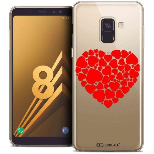 "Coque Crystal Gel Samsung Galaxy A8 (2018) A530 (5.6"") Extra Fine Love - Coeur des Coeurs"