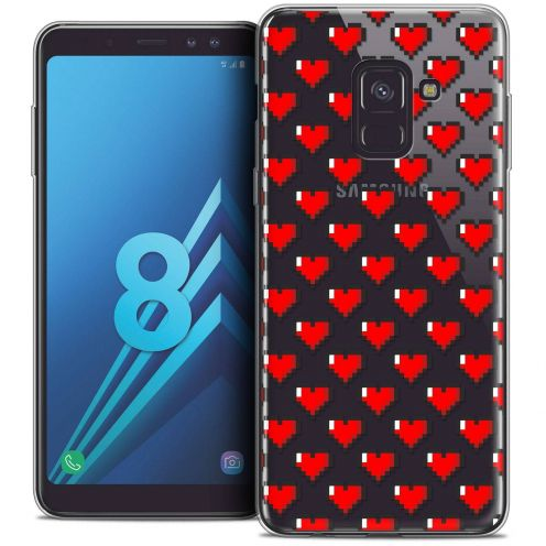 "Coque Crystal Gel Samsung Galaxy A8 (2018) A530 (5.6"") Extra Fine Love - Pixel Art"