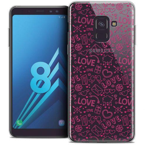 "Coque Crystal Gel Samsung Galaxy A8 (2018) A530 (5.6"") Extra Fine Love - Doodle"