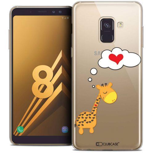 "Coque Crystal Gel Samsung Galaxy A8 (2018) A530 (5.6"") Extra Fine Love - Girafe Amoureuse"
