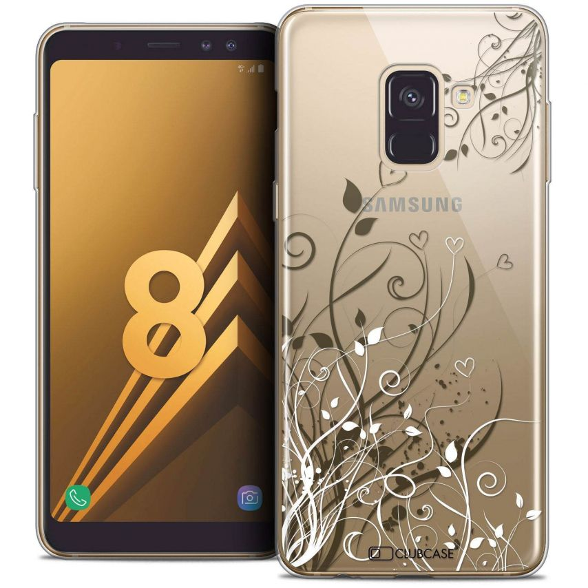 "Coque Crystal Gel Samsung Galaxy A8 (2018) A530 (5.6"") Extra Fine Love - Hearts Flowers"