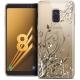 "Coque Crystal Gel Samsung Galaxy A8 (2018) A530 (5.6"") Extra Fine Love - Hearts Flowers"