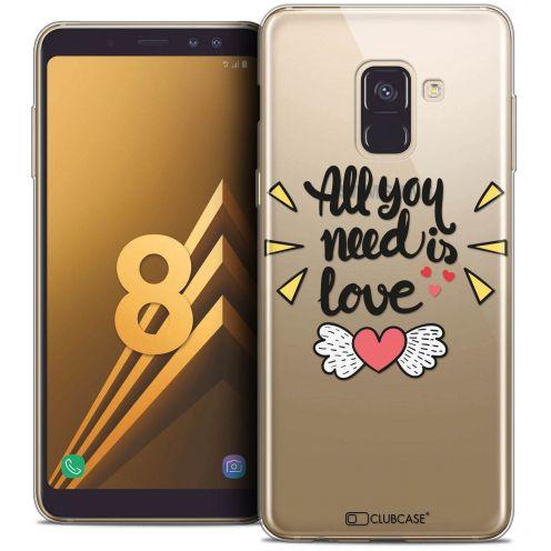 """Coque Crystal Gel Samsung Galaxy A8 (2018) A530 (5.6"""") Extra Fine Love - All U Need Is"""