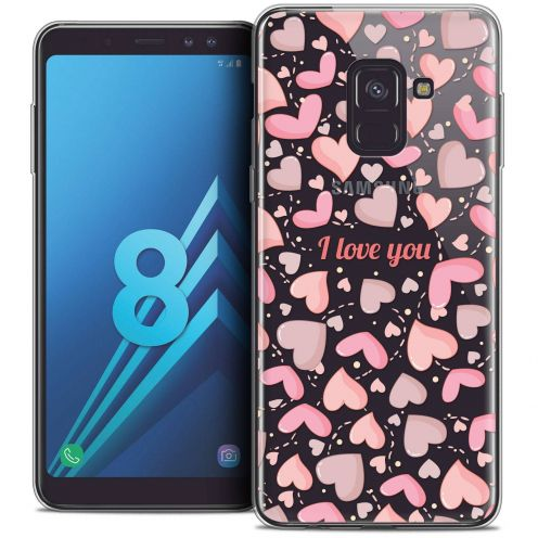 "Coque Crystal Gel Samsung Galaxy A8 (2018) A530 (5.6"") Extra Fine Love - I Love You"