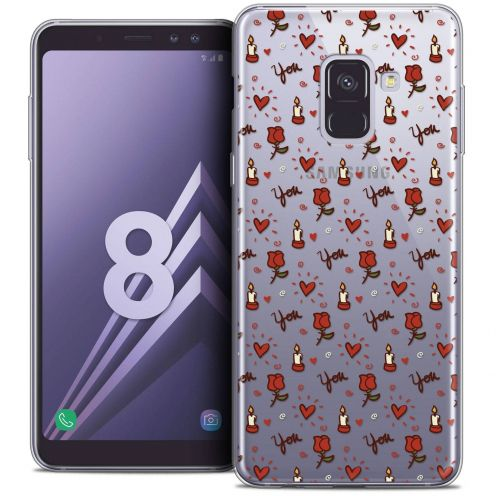 """Coque Crystal Gel Samsung Galaxy A8 (2018) A530 (5.6"""") Extra Fine Love - Bougies et Roses"""