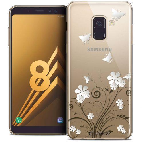 "Coque Crystal Gel Samsung Galaxy A8 (2018) A530 (5.6"") Extra Fine Summer - Papillons"
