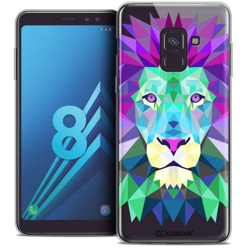 "Coque Crystal Gel Samsung Galaxy A8 (2018) A530 (5.6"") Extra Fine Polygon Animals - Lion"