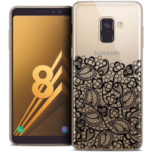 "Coque Crystal Gel Samsung Galaxy A8 (2018) A530 (5.6"") Extra Fine Spring - Bas dentelle Noir"