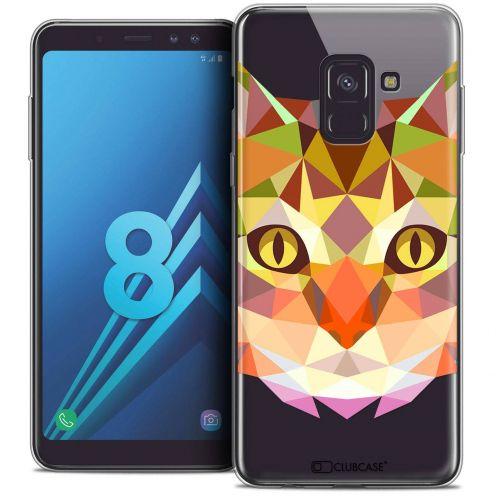 """Coque Crystal Gel Samsung Galaxy A8 (2018) A530 (5.6"""") Extra Fine Polygon Animals - Chat"""