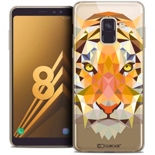 "Coque Crystal Gel Samsung Galaxy A8 (2018) A530 (5.6"") Extra Fine Polygon Animals - Tigre"