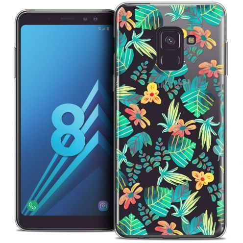 "Coque Crystal Gel Samsung Galaxy A8 (2018) A530 (5.6"") Extra Fine Spring - Tropical"