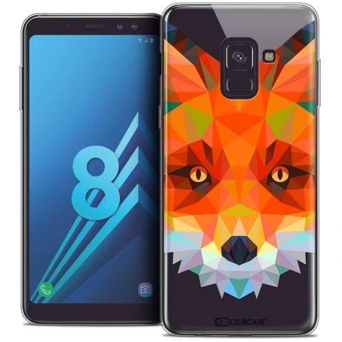 "Coque Crystal Gel Samsung Galaxy A8 (2018) A530 (5.6"") Extra Fine Polygon Animals - Renard"