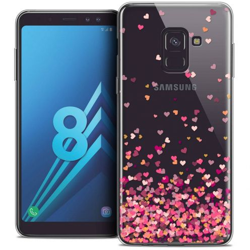 "Coque Crystal Gel Samsung Galaxy A8 (2018) A530 (5.6"") Extra Fine Sweetie - Heart Flakes"