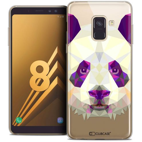"Coque Crystal Gel Samsung Galaxy A8 (2018) A530 (5.6"") Extra Fine Polygon Animals - Panda"