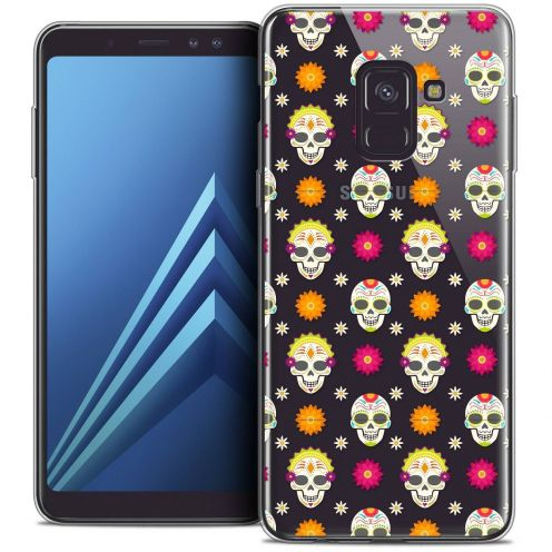 "Coque Crystal Gel Samsung Galaxy A8+ (2018) A730 (6.0"") Extra Fine Halloween - Skull Halloween"