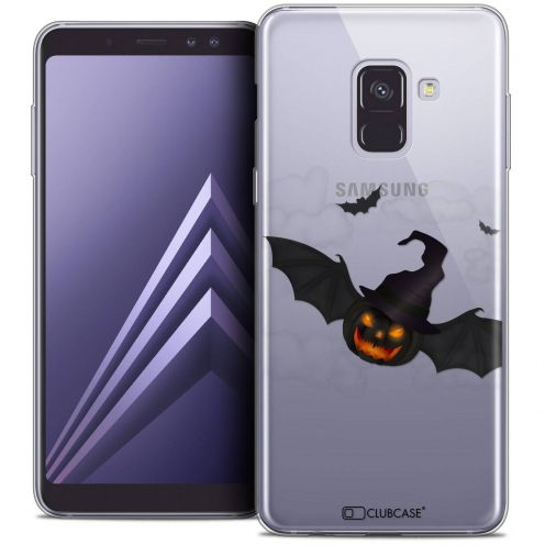 "Coque Crystal Gel Samsung Galaxy A8+ (2018) A730 (6.0"") Extra Fine Halloween - Chauve Citrouille"