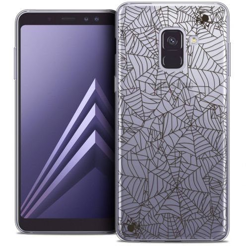 "Coque Crystal Gel Samsung Galaxy A8+ (2018) A730 (6.0"") Extra Fine Halloween - Spooky Spider"