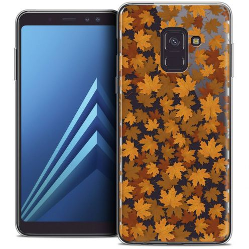 "Coque Crystal Gel Samsung Galaxy A8+ (2018) A730 (6.0"") Extra Fine Autumn 16 - Feuilles"