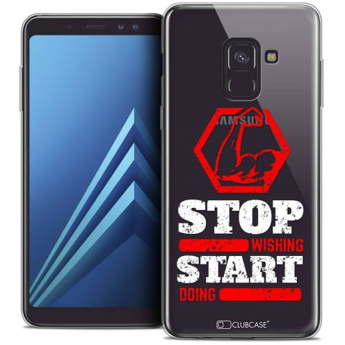 "Coque Crystal Gel Samsung Galaxy A8+ (2018) A730 (6.0"") Extra Fine Quote - Start Doing"