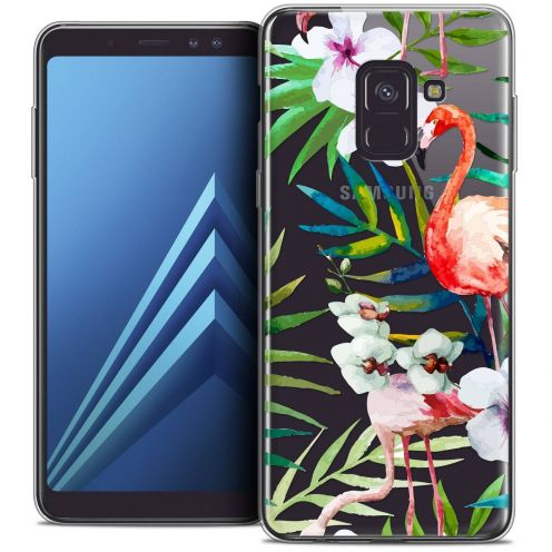 "Coque Crystal Gel Samsung Galaxy A8+ (2018) A730 (6.0"") Extra Fine Watercolor - Tropical Flamingo"