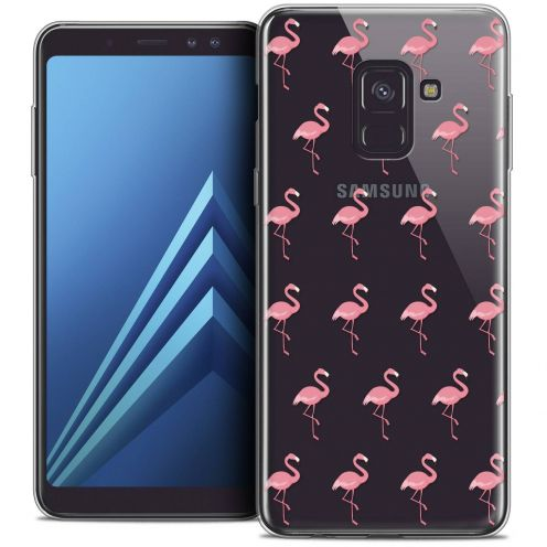 """Coque Crystal Gel Samsung Galaxy A8+ (2018) A730 (6.0"""") Extra Fine Pattern - Les flamants Roses"""