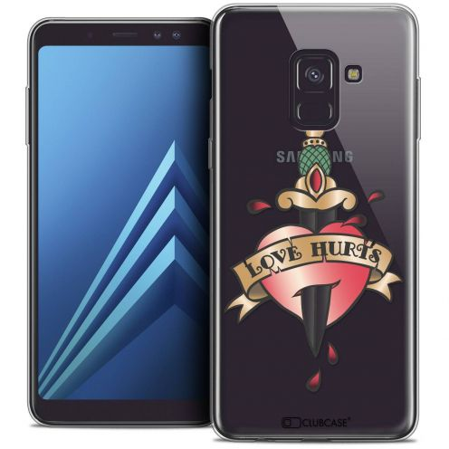 "Coque Crystal Gel Samsung Galaxy A8+ (2018) A730 (6.0"") Extra Fine Tatoo Lover - Love Hurts"