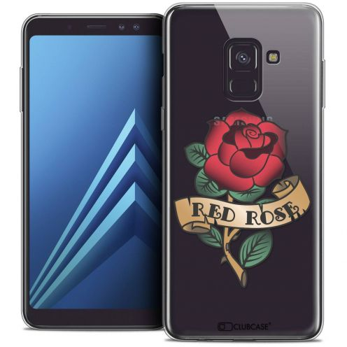 "Coque Crystal Gel Samsung Galaxy A8+ (2018) A730 (6.0"") Extra Fine Tatoo Lover - Red Rose"