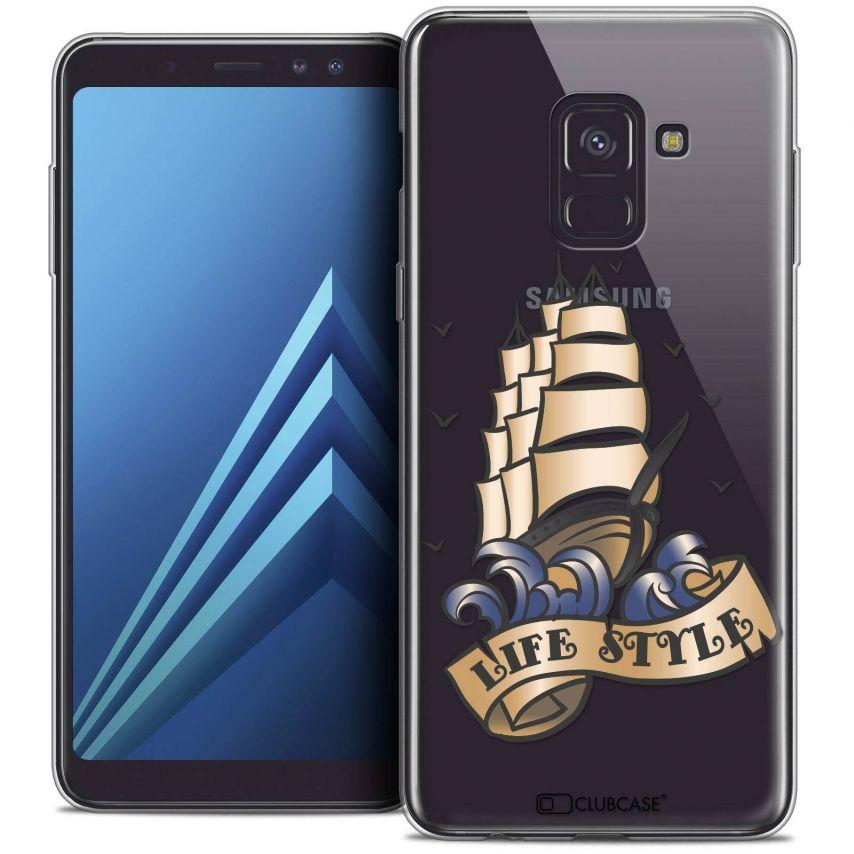 "Coque Crystal Gel Samsung Galaxy A8+ (2018) A730 (6.0"") Extra Fine Tatoo Lover - Life Style"