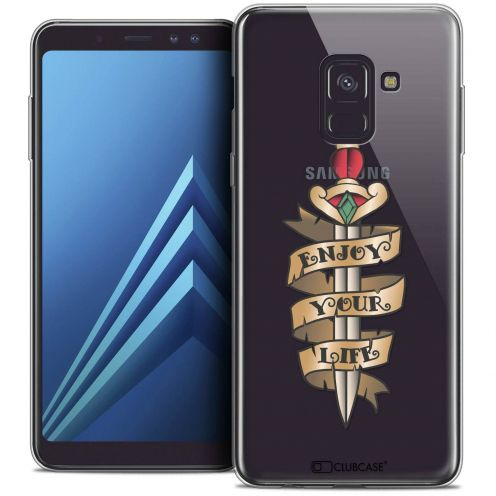 "Coque Crystal Gel Samsung Galaxy A8+ (2018) A730 (6.0"") Extra Fine Tatoo Lover - Enjoy Life"