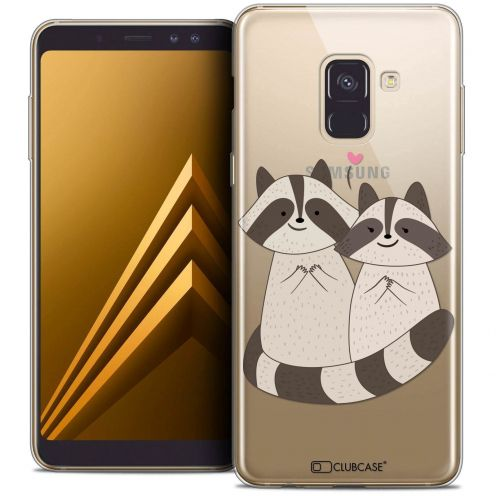 "Coque Crystal Gel Samsung Galaxy A8+ (2018) A730 (6.0"") Extra Fine Sweetie - Racoon Love"
