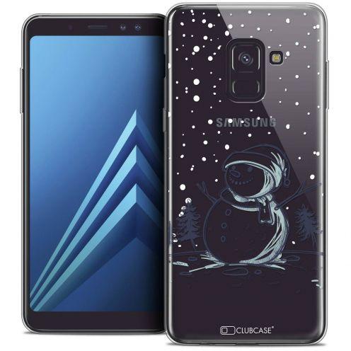 """Coque Crystal Gel Samsung Galaxy A8+ (2018) A730 (6.0"""") Extra Fine Noël 2017 - Bonhomme de Neige"""