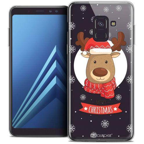 """Coque Crystal Gel Samsung Galaxy A8+ (2018) A730 (6.0"""") Extra Fine Noël 2017 - Cerf à Echarpe"""