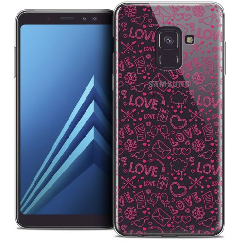 "Coque Crystal Gel Samsung Galaxy A8+ (2018) A730 (6.0"") Extra Fine Love - Doodle"