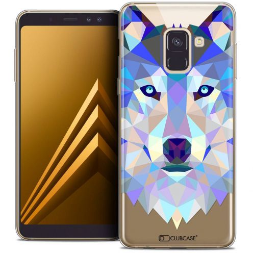 "Coque Crystal Gel Samsung Galaxy A8+ (2018) A730 (6.0"") Extra Fine Polygon Animals - Loup"