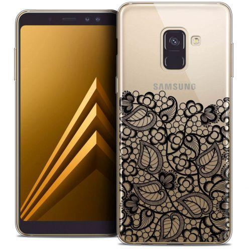 "Coque Crystal Gel Samsung Galaxy A8+ (2018) A730 (6.0"") Extra Fine Spring - Bas dentelle Noir"