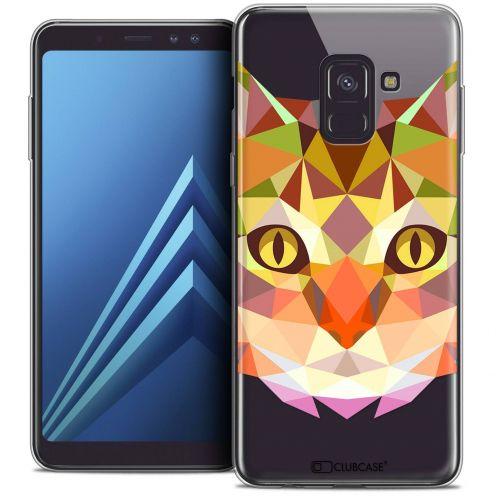 """Coque Crystal Gel Samsung Galaxy A8+ (2018) A730 (6.0"""") Extra Fine Polygon Animals - Chat"""