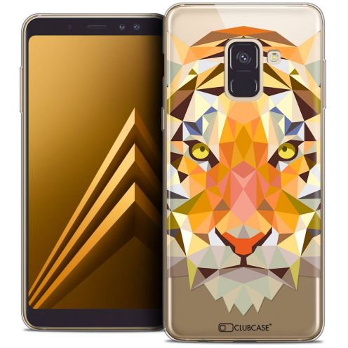 "Coque Crystal Gel Samsung Galaxy A8+ (2018) A730 (6.0"") Extra Fine Polygon Animals - Tigre"