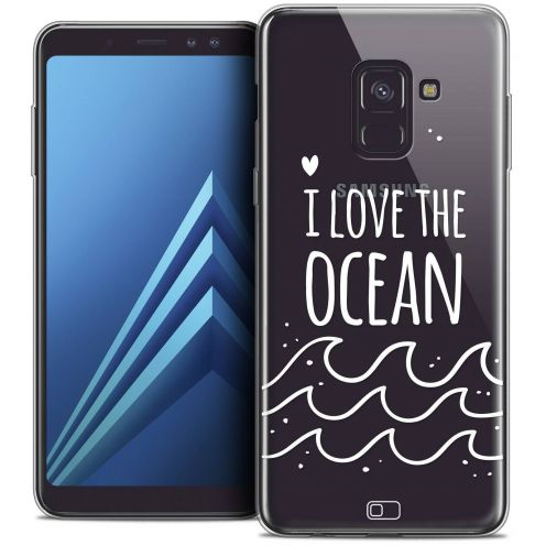 "Coque Crystal Gel Samsung Galaxy A8+ (2018) A730 (6.0"") Extra Fine Summer - I Love Ocean"