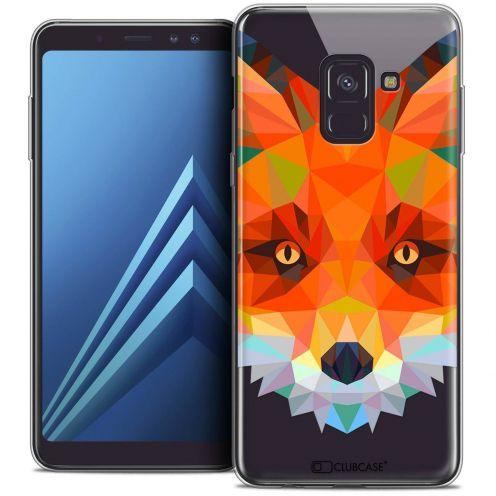 "Coque Crystal Gel Samsung Galaxy A8+ (2018) A730 (6.0"") Extra Fine Polygon Animals - Renard"
