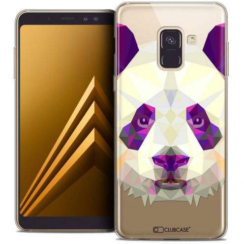 "Coque Crystal Gel Samsung Galaxy A8+ (2018) A730 (6.0"") Extra Fine Polygon Animals - Panda"