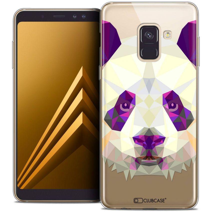 "Coque Crystal Gel Samsung Galaxy A8+ (2018) A730 (6.0"") Extra Fine Polygon Animals - Panda"