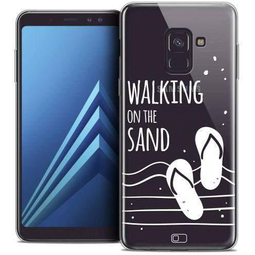 "Coque Crystal Gel Samsung Galaxy A8+ (2018) A730 (6.0"") Extra Fine Summer - Walking on the Sand"